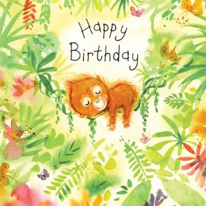FIZ20 - Happy Birthday Card Orangutan